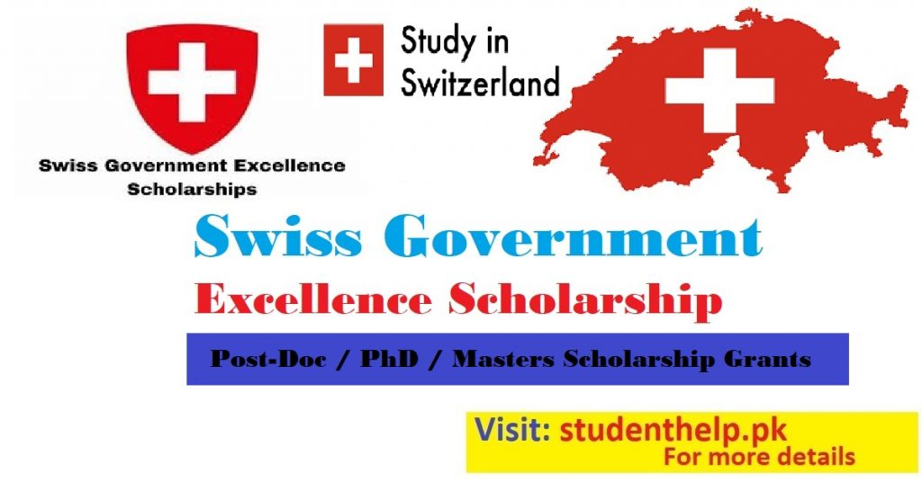 Swiss Government Excellence Scholarships for International Students