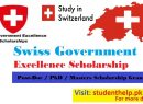 Swiss Government Excellence Scholarships for International Students 2022   Swiss Scholarships