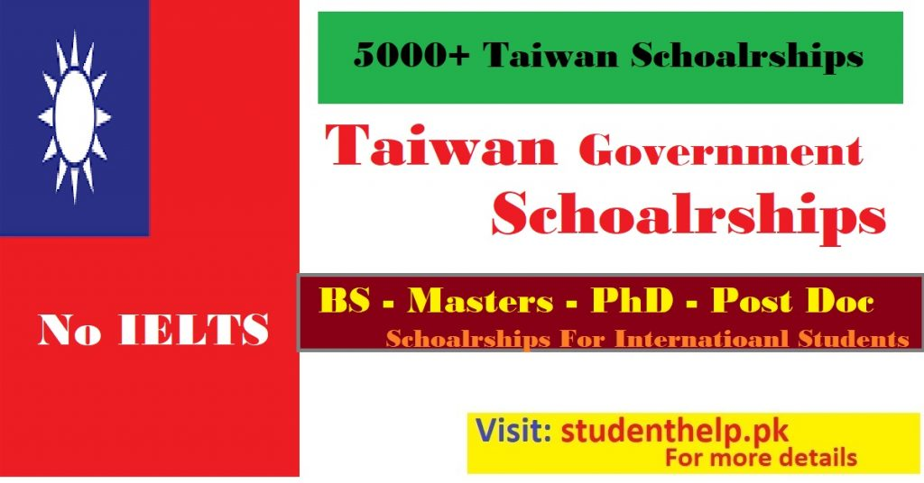 Taiwan scholarships for international students 2022