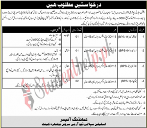 Station Supply Depot Jobs  Army Service Nowshera Cantt Jobs 2021
