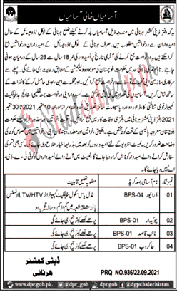 Driver jobs at Deputy Commissioner Office Harnai 2021