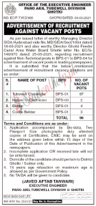Office Chief Executive Engineer Pano Akel Tubewell Division Jobs 2021